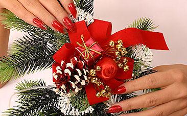 Дизайн ногтей на Новый 2015 год